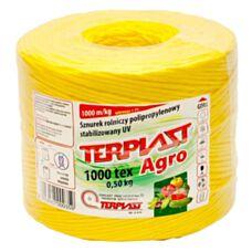 Sznurek TEX 1000 dł. 500mb - żółty TERPLAST