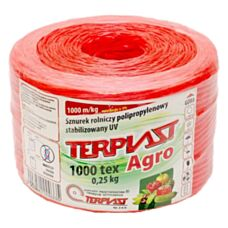 Sznurek TEX 1000 dł. 250mb - czerwony TERPLAST