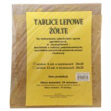 Tablice lepowe żółte 20x20cm (6 szt.) Medchem